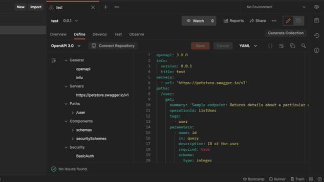 API定義画面